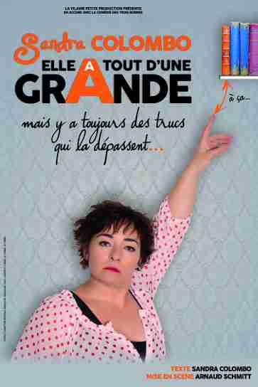 Affiche-Sandra-colombo-Elle-a-tout-dun-grande-one-woman-show-Art-Dû-13006